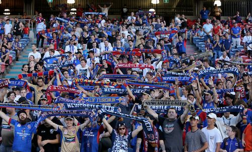 #NewcastleJets are doing everything right this season: winning on the field, and attracting good crowds. Some of the 12,137 v #BrisbaneRoar. 13.01.18