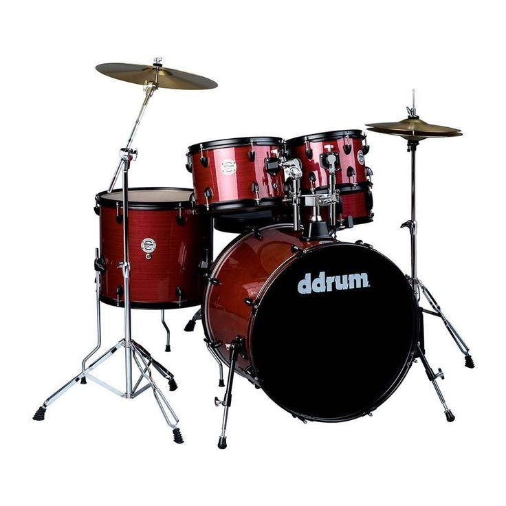 DDrum D2P RPS PLAYER RED PINSTRIPE FULL DRUM SET W/CYMBALS & HARDWARE & THRONE #ddrum