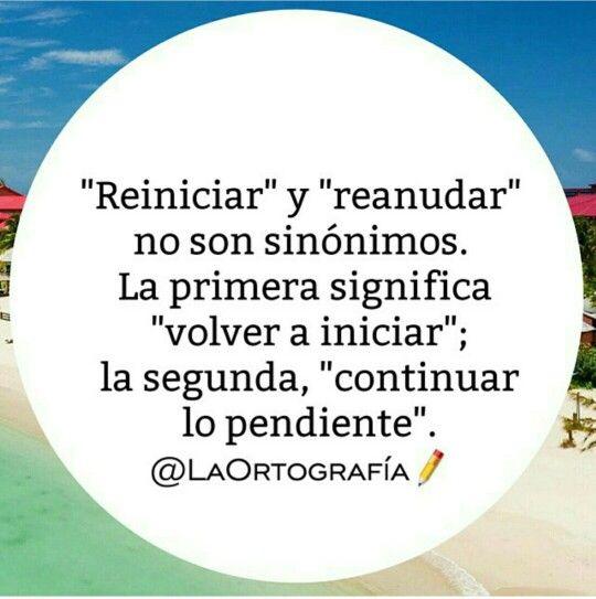 Diferencia entre «reiniciar» y «reanudar».