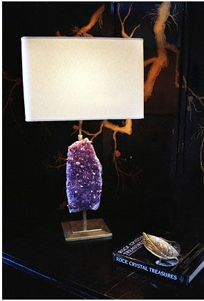 I want one of these: Decor, Matthewstudiosny Com, Raw Amethysts, Amethysts Lamps, Matthew Studios, Floors Lamps, Tables Lamps, Lamps Based, Art Lights