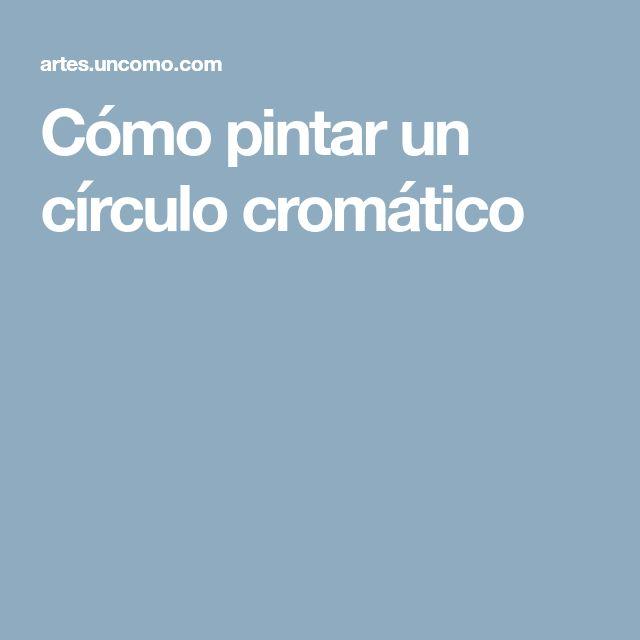 Cómo pintar un círculo cromático