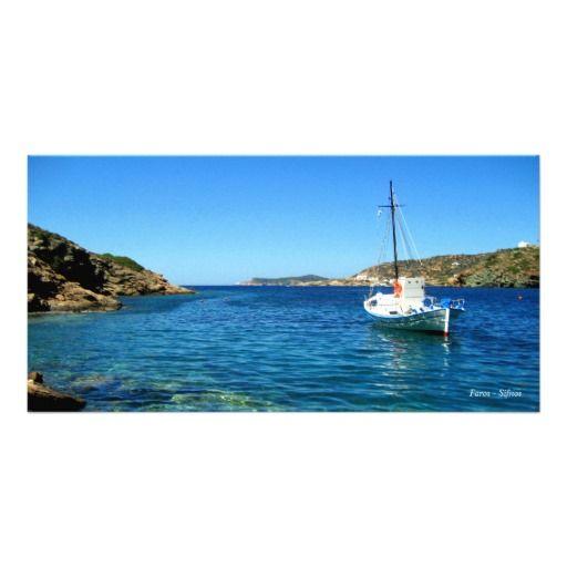Faros - Sifnos Customized Photo Card
