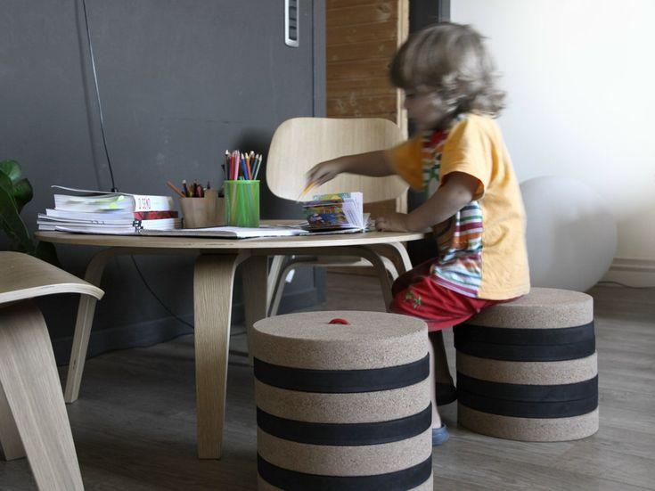 Sgabello per bambini TORONTO by MADE DESIGN | design Daniela Seminara, IN-TENTA