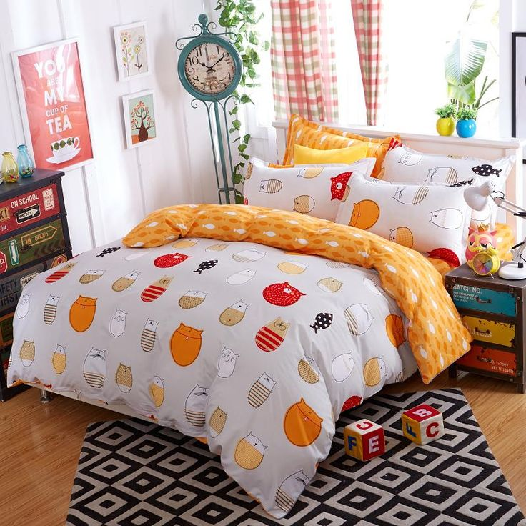 Cheap Bedding Sets, Buy Directly from China Suppliers:    Lovely cartoon mickey mouse comforter bedding sets bed linen 3d duvet cover bed sheet pillowcases Full king Qu