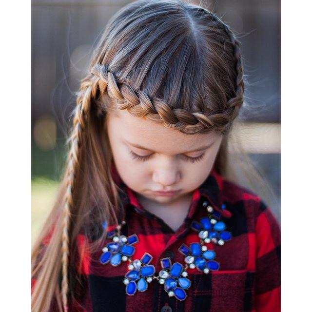 a lace braid going across the forehead @abellasbraids