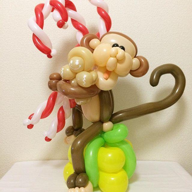 クリスマスアドベントカレンダー/Christmas Advert Calendar [12/16] クリスマススウィーツ×モンキー クリスマスまであと9日 #クリスマスアドベントカレンダー #クリスマス #サル #モンキー #クリスマススイーツ #バルーンアート #christmasadventcalendar #christmas #monkey #candycane #gingerbread #christmassweets #balloonart #balloontwisting