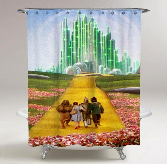 The Wizard Of Oz Movie Print On Custom Shower Curtain Limited