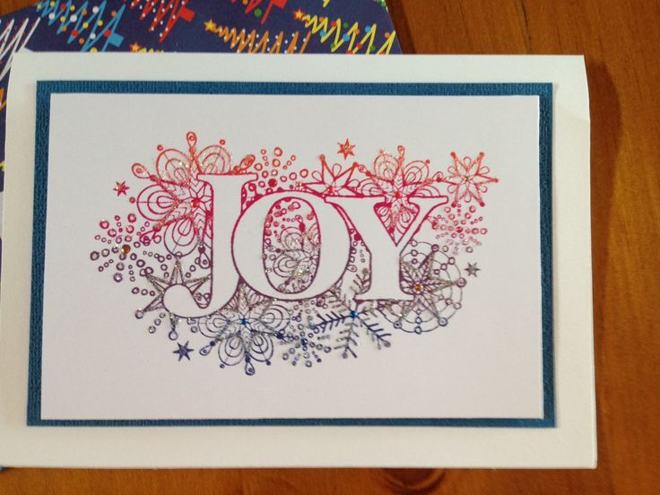 Hero Arts Joy Stamp and Kaleidacolor ink