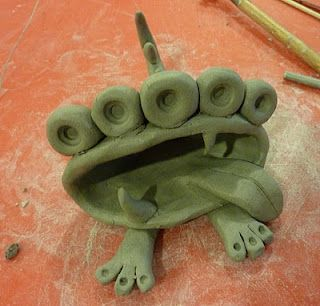 pinch pot monsters. This site has lots of cute clay projects and other stuff  http://beingcr8iv.blogspot.com/search?updated-max=2011-11-16T07:55:00-08:00&max-results=20&reverse-paginate=true