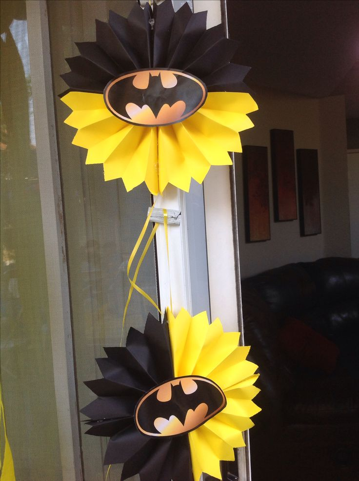 DIY batman decorations
