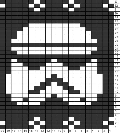 Tricksy Knitter Charts Stormtrooper For Evenstar Sweater