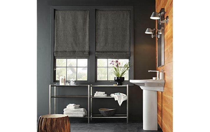 Custom Modern Window Treatments: Roman Flat shades