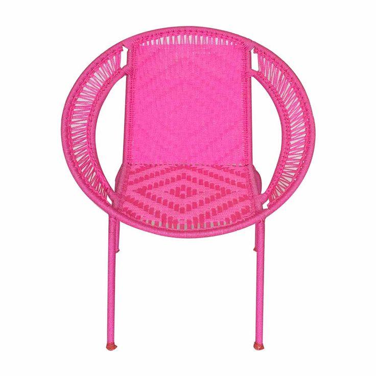 Chaise enfant Calao pour petite princesse, très solide en fil de pêche, pour la chambre ou dans le jardin, convient à l'extérieur.