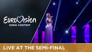 Gabriela Gunčíková - I Stand (Czech Republic) Live at Semi - Final 1 ESC 2016, didn't like the dress, didn't like the music video, but definitely love that song. Sad she did get not a single point from the televoters, (place 25, 41 points)