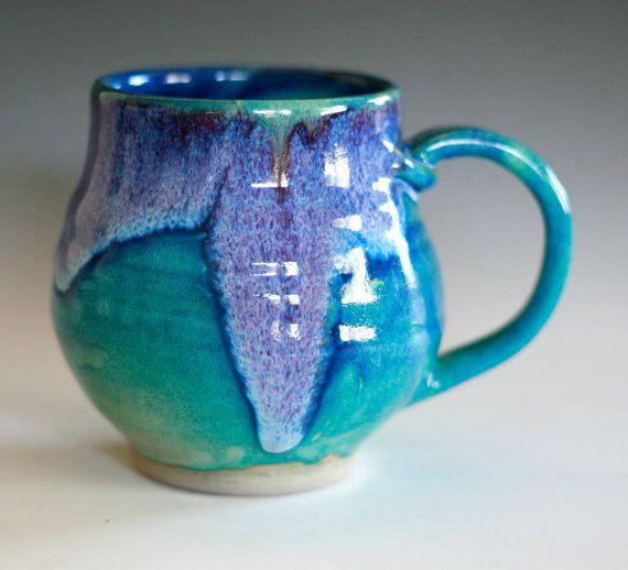 large ceramic mug- love the colours!