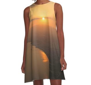 Secret Sunset A-Line Dress by Scar Design #sunsetdress #sunset #summervacations #beachdress #beach #summerfashion #giftsforher #gifts #giftsforteens #summergifts #womensfashion #hipster #colorful #style #swag #sunset #sunsetdress #dress #summerdress #summer2016 #buydress #Alinedress #buydresses #redbubble