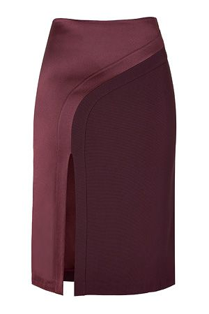 Hakaan bordeaux pencil skirt