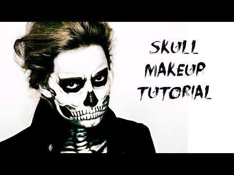 Skull Makeup Tutorial Lady Gaga Rick Genest Video - YouTube