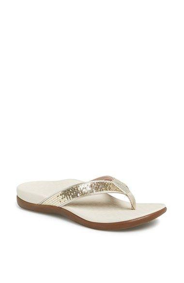 Flip Flop femenino de Asana-Beach Bash, Denim, 9 M US