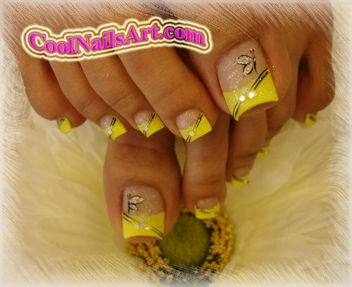 spring nail designs | The Golden Touch - Toes Design :: Nail Art Design From CoolNailsArt