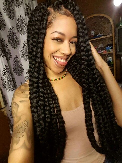 Wondrous 1000 Ideas About Big Box Braids Hairstyles On Pinterest Box Short Hairstyles For Black Women Fulllsitofus