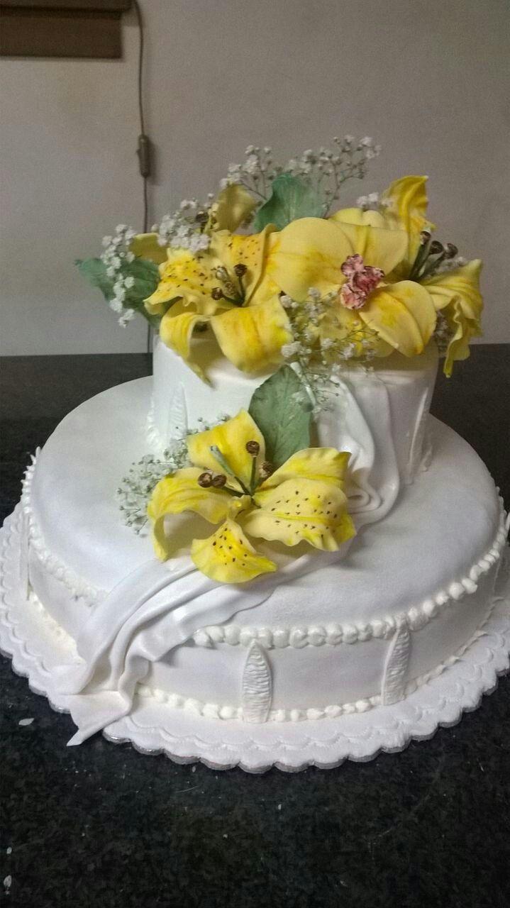 Torta zucchero fiori zucchero cake design