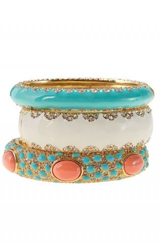 PAIGE ENAMEL BANGLES! Perfect summer color combo!
