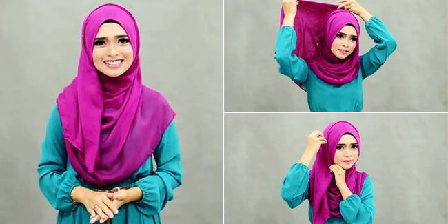 Memakai hijab yang menutup dada adalah bentuk dari pemakaian hijab yang tepat. Ini dia tutorial hijab modern simpel yang menutup dada.