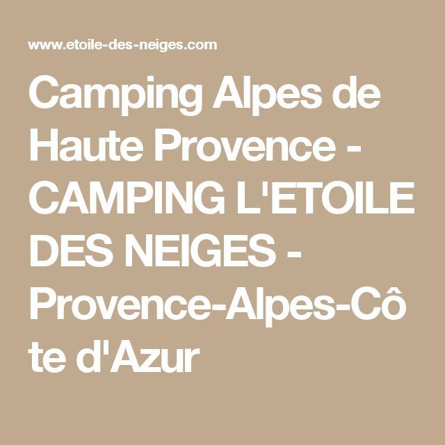 Camping Alpes de Haute Provence - CAMPING L'ETOILE DES NEIGES - Provence-Alpes-Côte d'Azur