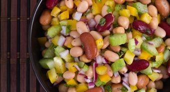 5 saladas com feijão