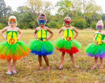 Teenage Mutant Ninja Turtle Inspired Halloween Birthday Tutu Dresses