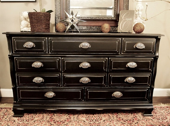items similar to darling black distressed dresser changing tablesold on etsy