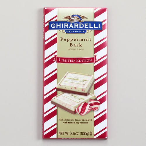 One of my favorite discoveries at WorldMarket.com: Ghirardelli Peppermint Bark Bar