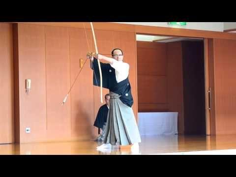【弓道】 2012,12,2 臨時中央審査 矢渡 範士九段 吉本清信先生 【kyudo】 - YouTube
