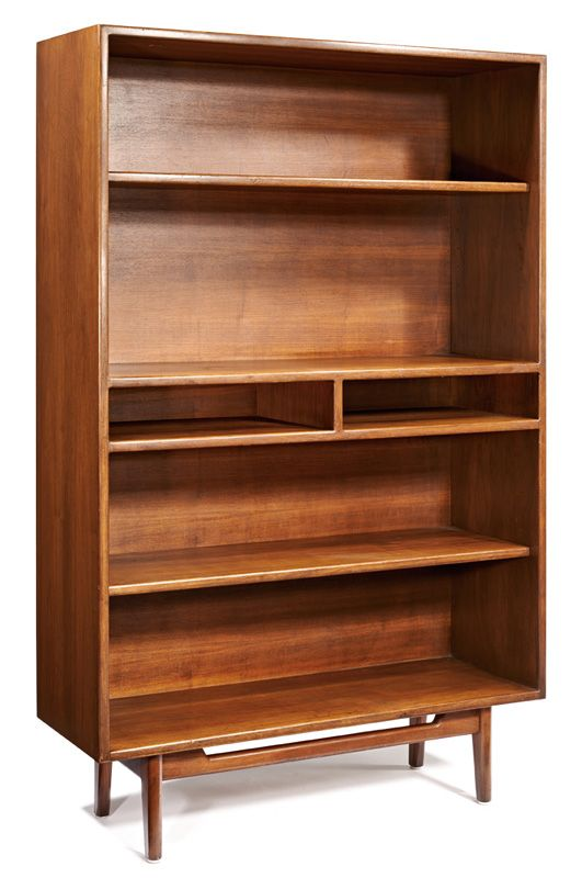 Jens Risom; Walnut Bookcase, c1955.