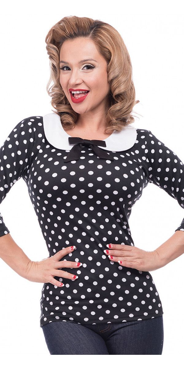 Polka Dot Babydoll Top