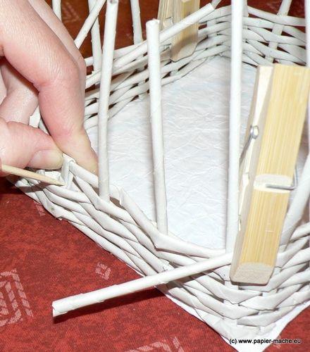 Ötletes Blog: Fonjunk papírból kosarat!