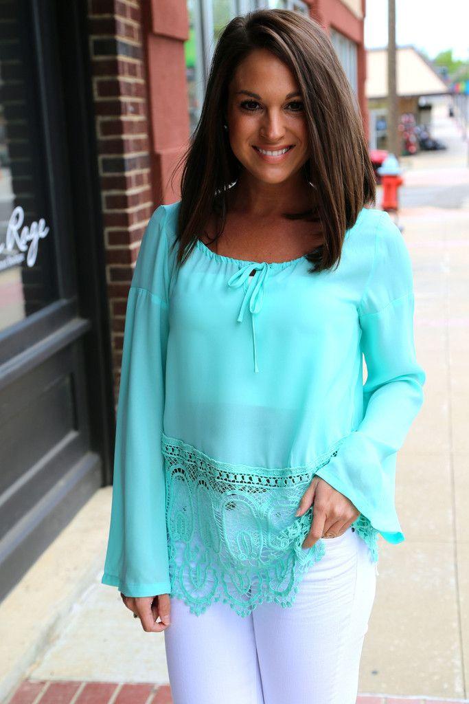 Turquoise Waters Lace Tunic Fashion Style Fashion