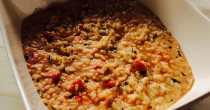 Tomato and basil risotto with mascarpone