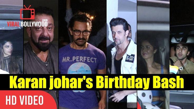 Bollywood Top Celebrities At Karan Johar Birthday Bash Aamir, Hrithik, Katrina, Ranbir And Many