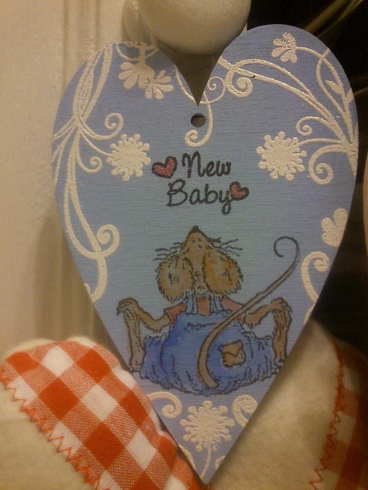 Lovely handmade 12 cm heart x