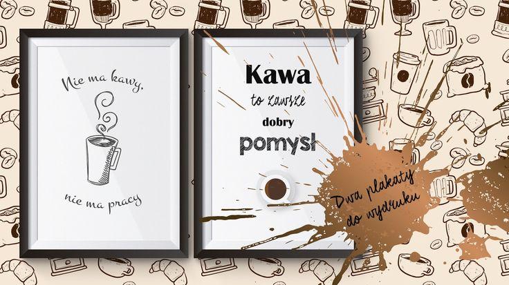 Dwa plakaty kawowe. Grafiki do druku