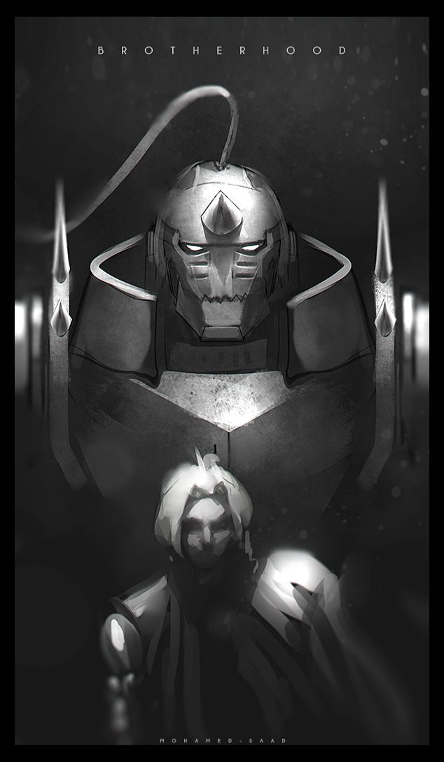 Ed & Al Elric (Fullmetal Alchemist Brotherhood). Artist: TheFearMaster. Source: http://thefearmaster.deviantart.com/