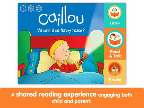 "IOS. 2,69€. ""Caillou: What's That Funny Noise? by i Read With"". Conte digital per aprendre a llegir de Caillou."