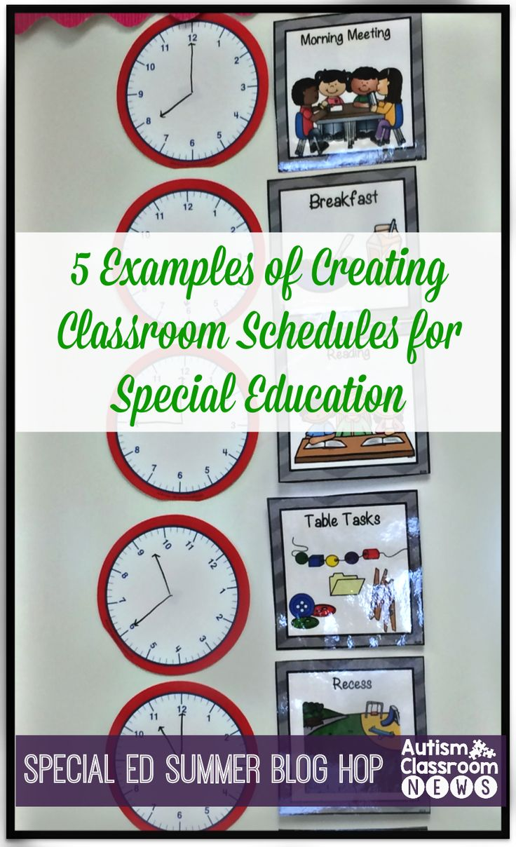 Special Education Summer Blog Hop Setting up Schedules