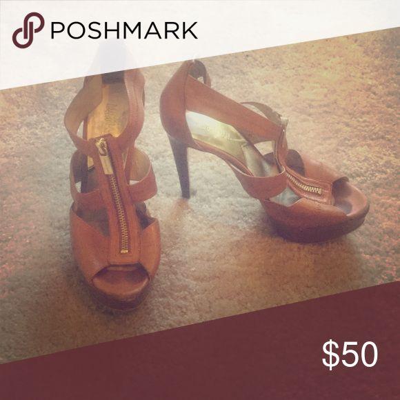 Michael Kors heels Michael kors brown strappy heels   Worn but still look good KORS Michael Kors Shoes Heels