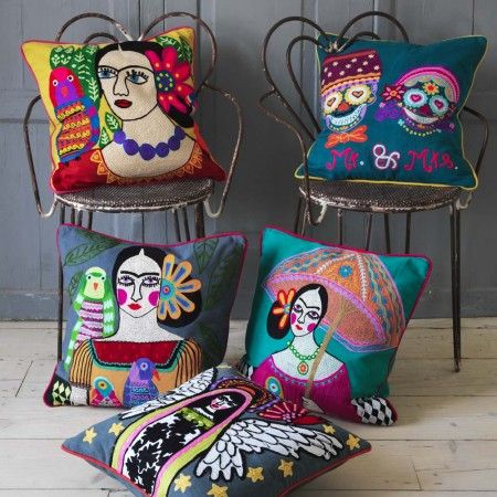 Appliquéd Character Cushions - Cushions & Throws - Treat Your Home - Home Accessories