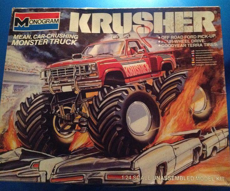 FOR SALE by Owner: Krusher 1984 Ford Monster Truck scale model kit 1:24 Revell $18.99