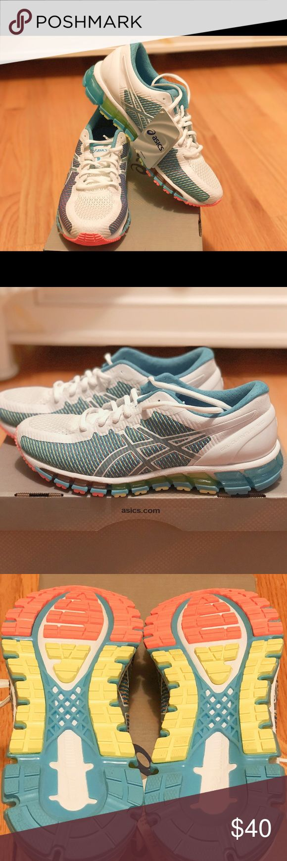 ASIC Gel Quantum 360 sneakers Only worn at the ASICS store. New with tags. Heads up that ASICS has been running narrow lately, so keep that in mind before buying! Asics Shoes Athletic Shoes