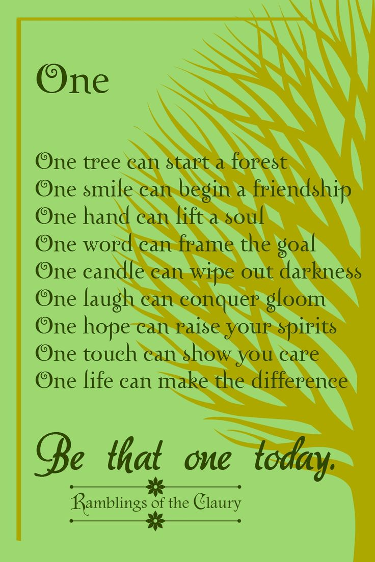 Smile poems and quotes - One Tree Can Start A Forest One Smile Can Begin A Friendship One Hand
